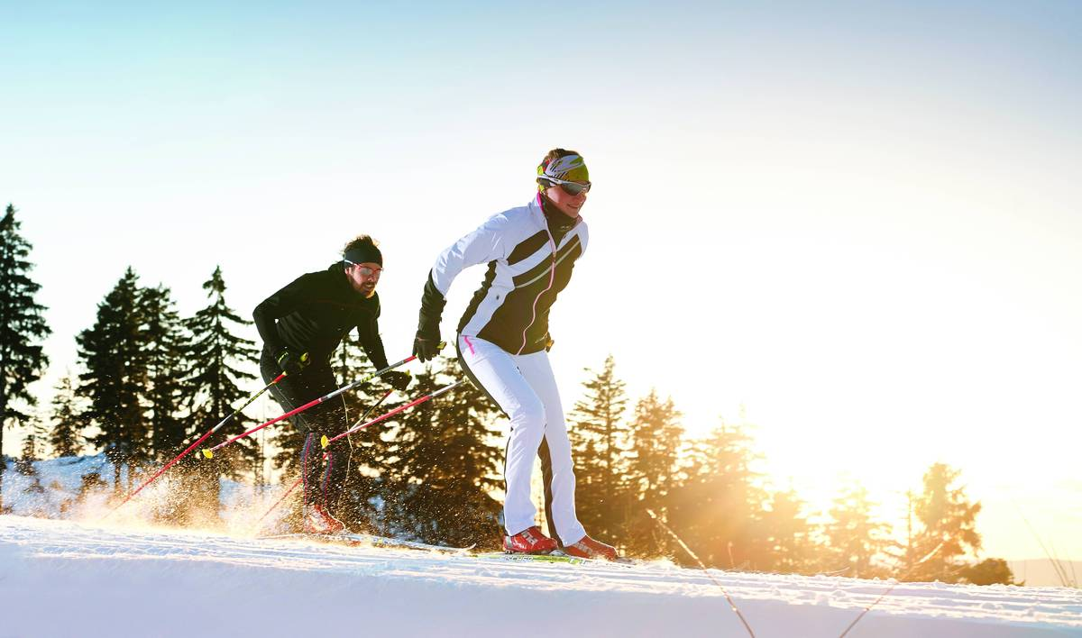 winter sports at the bavarian forest