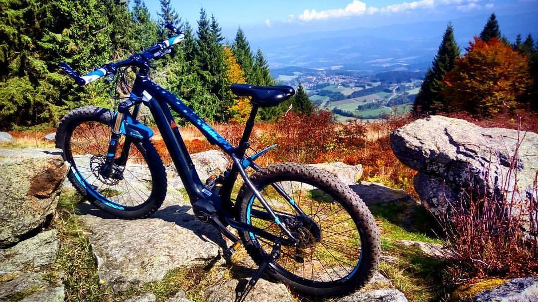 mountainbiking at the bavarian forest